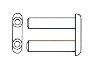Rimless Mounting Bushing/Sleeve Double Post for Eyeglasses : 100pcs - Optical Products Online