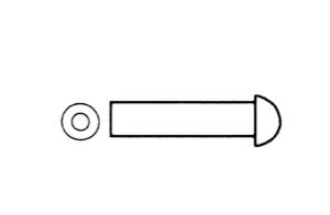 RIMLESS MOUNTING BUSHING SINGLE 1.4mm 100pcs - Optical Products Online
