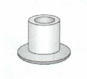 DELRIN TOP HAT BUSHINGS for Eyeglasses : 1.4mm X 2.0mm 100pcs : Optical Products Online