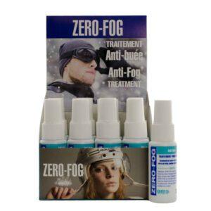 Zero-Fog 12 1oz Spray Bottles in display carton